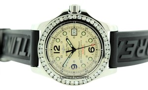Breitling BREITLING SUPER OCEAN A17390 3CT S/S WATCH WITH CHANNEL SETTING BEZEL