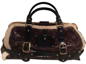 Louis Vuitton Satchel in Brown, Black, Tan with Brass hardware