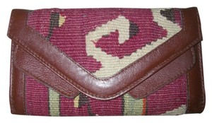 Dark Mahogany Brown/Tapestry Envelope Wallet Double Snap Bifold