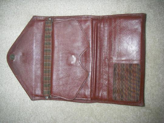 Other Dark Mahogany Brown/Tapestry Envelope Wallet Double Snap Bifold