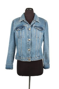 MCM Denim Jean Gold Womens Jean Jacket