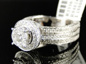 Other 14K White Gold Engagement Bridal Wedding Band Ring 2 Ct