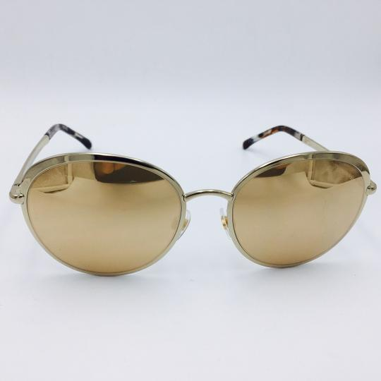25d8d7606 ... Chanel Chanel 18-Karat Gold Mirror Lenses Signature Round Sunglasses  4206 55 Image 1