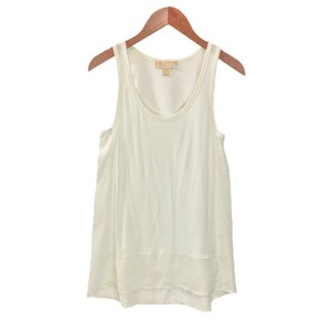 MICHAEL Michael Kors Sleeveless Summer Silk Rayon Spring Top OFF WHITE