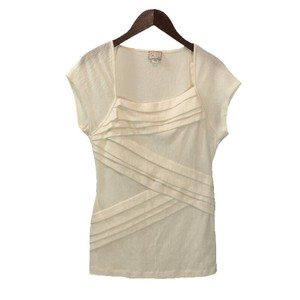 Anthropologie Spring Summer Out Date Night Top IVORY