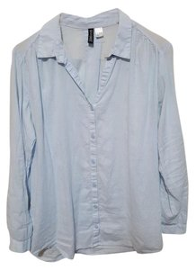 Divided by H&M Longsleeve Oversized Button Down Shirt Blue