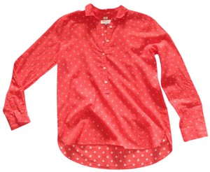 Ann Taylor LOFT Smock Indian Cotton Top red