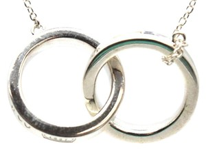 Tiffany & Co. Double Ring Charm Necklace with Chain
