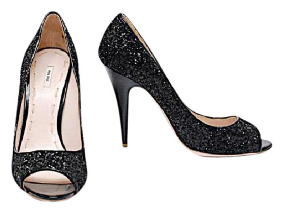 Miu Miu Black Sequin Sparkly 4