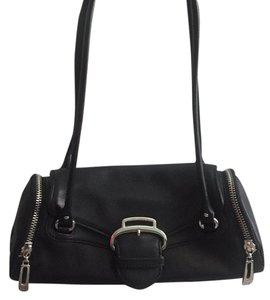 Cole Haan Satchel in Black, Silver