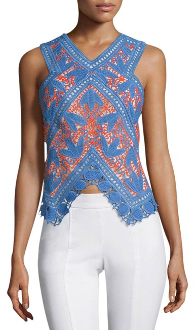 Preload https://img-static.tradesy.com/item/20865636/tory-burch-blue-evie-crochet-lace-night-out-top-size-8-m-0-1-650-650.jpg