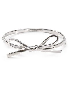 Kate Spade Women S Metallic Skinny Mini Bow Bangle