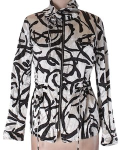 Chico's ivory printed Jacket