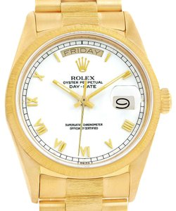 Rolex Rolex President Day-Date 18k Yellow Gold White Dial Mens Watch 18078