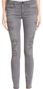 Frame Denim Distressed Denim Skinny Jeans-Distressed