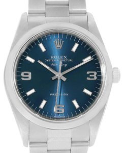 Rolex Rolex Air King Blue Dial Steel Mens Watch 14000 Box Papers
