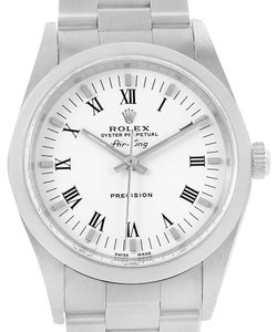 Rolex Rolex Air King White Dial Stainless Steel Mens Watch 14000