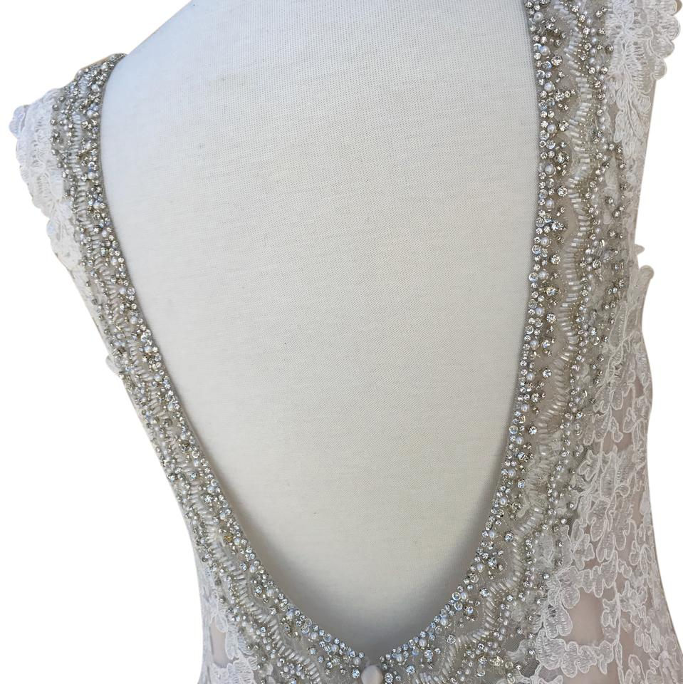 Allure Bridals Ivory Champagne Lace Silk 9311 Traditional