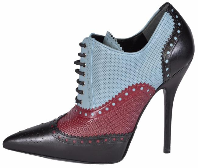Item - Multi-color New 388426 Black Burgundy Blue Brogue Stiletto Ankle Boots/Booties Size EU 36.5 (Approx. US 6.5) Regular (M, B)