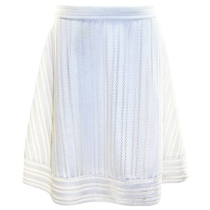 J.Crew Eyelet Striped Pre-owned Skirt White