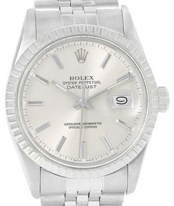 Rolex Rolex Datejust Steel Silver Dial Automatic Vintage Mens Watch 16000