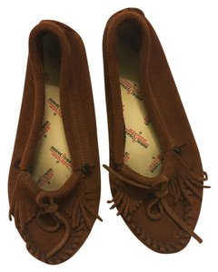 Minnetonka Suede Mocassins Suede Suede Soft Sole Brown Flats