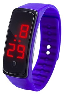 Other Purple jelly style digital sports watch free shipping