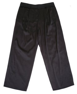 Maison Margiela Satin Pleated Cropped Capri/Cropped Pants