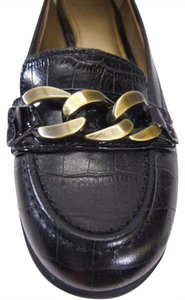 Joan & David Lux Loafer Aurum Sz 7 Black Flats