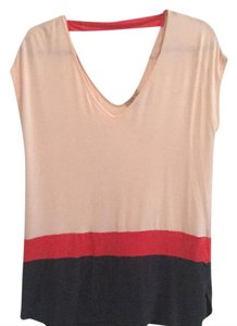 Anthropologie Open Back Color-blocking Flowy Tunic