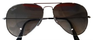 Ray-Ban RAY BAN 12217 UNISEX AVIATOR LARGE METAL SILVER TONE W/SMOKEY LENS RB