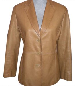 Lafayette 148 New York Tan(brown) Leather Jacket