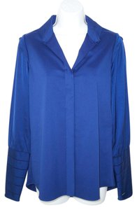 Elie Tahari Cotton Satin Career Top