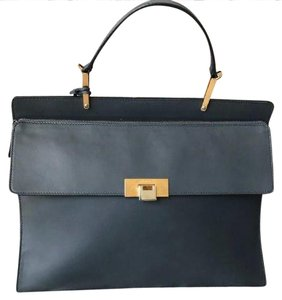 Balenciaga Leather Le Dix Cartable Satchel in Gray