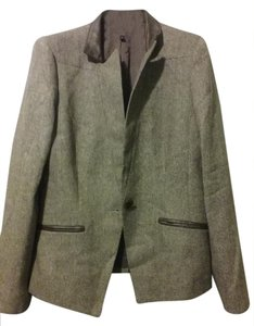 Kasper Classics Faux Leather grey Jacket