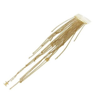 Chanel Vintage Gold-Tone CC Fringe Chain Hairpin