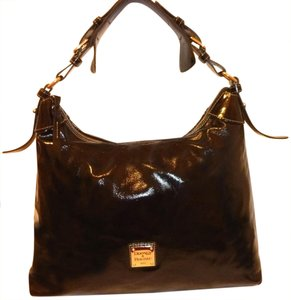 Dooney & Bourke Refurbished Patent Leather X-lg Hobo Bag