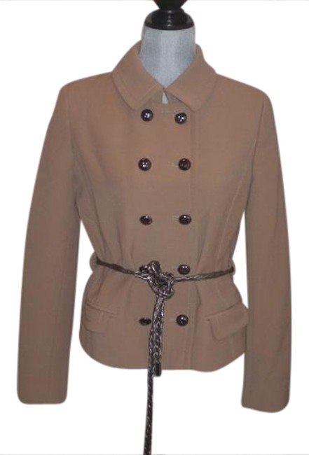 Item - Tan Dolce&-gabbana-tan-double-breasted-wool-coat-jacket-with-belt-size 42 Jacket Size 10 (M)