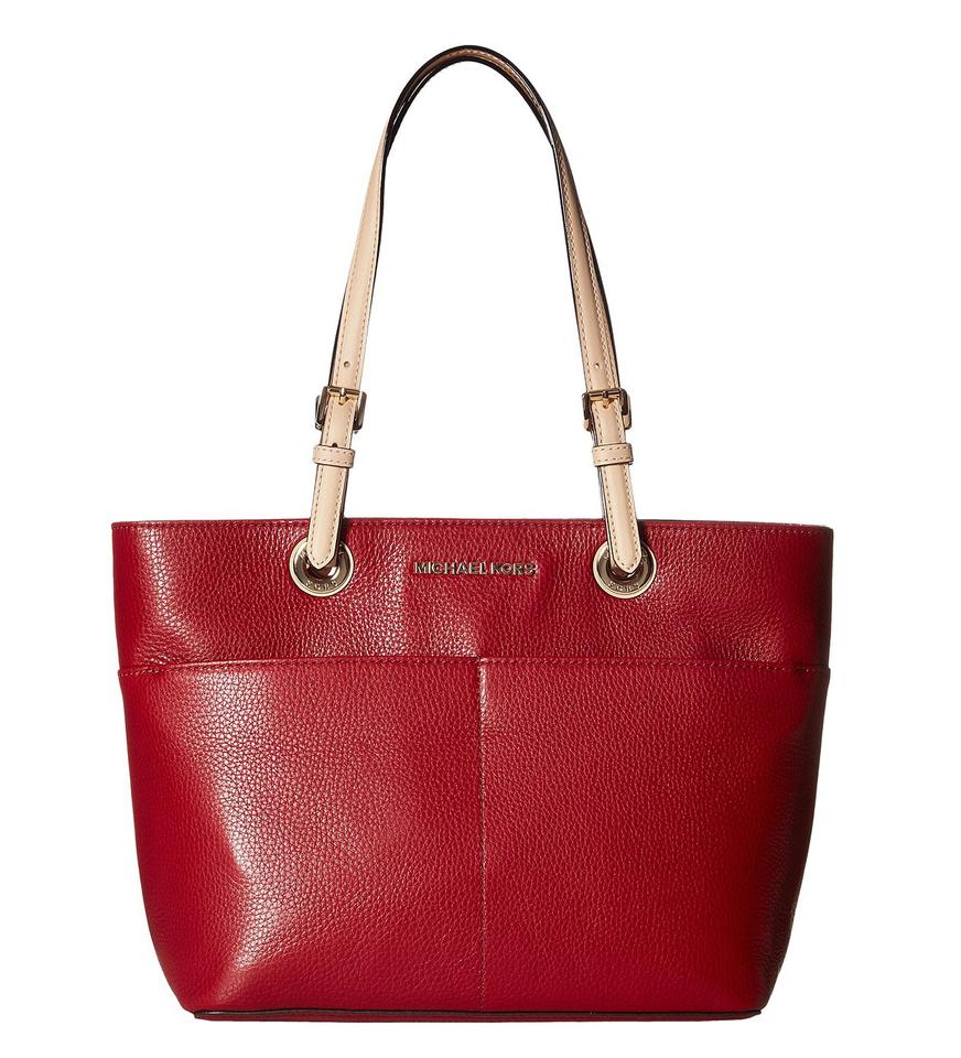d0e16eb84154 ... coupon code for michael kors 30h4gbft6l mk bedford leather shoulder  tote in cherry be834 4f6b0