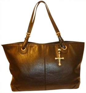Michael Kors Refurbished Leather X-lg Lined Tote in Black