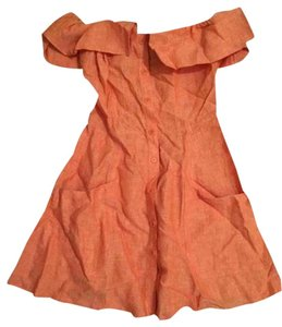 Reformation short dress orange Botanica on Tradesy