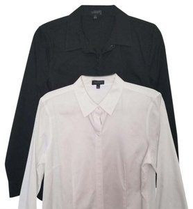 The Limited Button Down Shirt Black and white