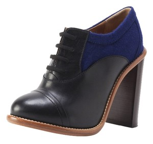 Chloé Felt Leather Blue and Black Boots