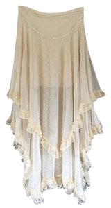 Free People Boho Lace Maxi Skirt Cream