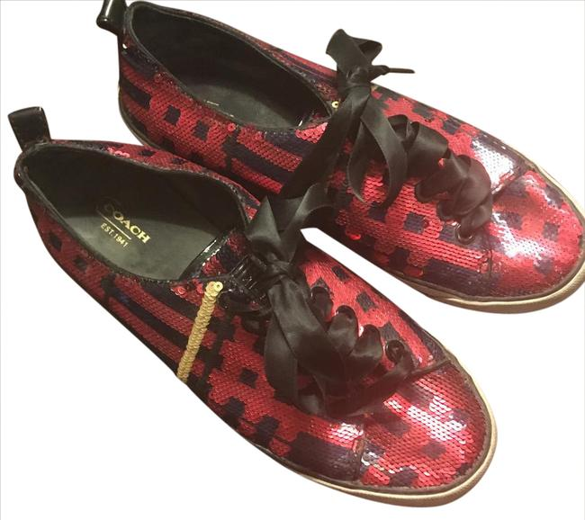 Coach Red and Navy Q1760 Sneakers Size US 8 Regular (M, B) Coach Red and Navy Q1760 Sneakers Size US 8 Regular (M, B) Image 1