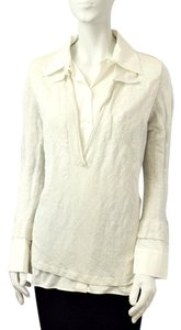 Tom Ford Shirt Sweater Knit Top Gray/White