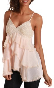 Cecico Gemma Lace Ruffles Top Peach