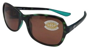 Costa Del Mar Polarized COSTA Sunglasses KARE KAR 116 Green Tortoise Frame w/Copper