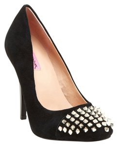 Betsey Johnson Brand New Size 10 Black Suede Spike Pumps