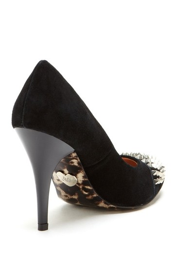 Betsey Johnson Size 10 Black Suede Spike Pumps